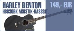 Harley Benton B-30BK Acoustic Bass Series
