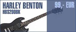 Harley Benton S-200 BK