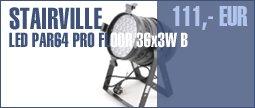 Stairville LED PAR64 PRO Floor 36x3W B
