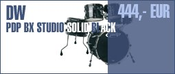 DW PDP BX Studio Solid Black