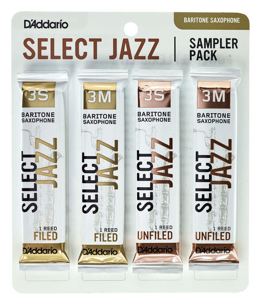 Select Jazz Bari Sampler Pck 3 D'Addario Woodwinds