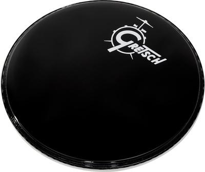 gretsch 18 bass drum head black logo thomann uk. Black Bedroom Furniture Sets. Home Design Ideas