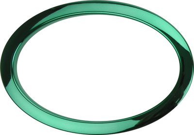 "Bass Drum O's 6"" Green Oval HOG6"