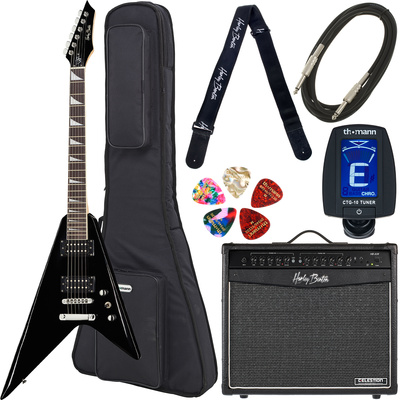 Harley Benton R-10 BK Rock Series Bundle 3